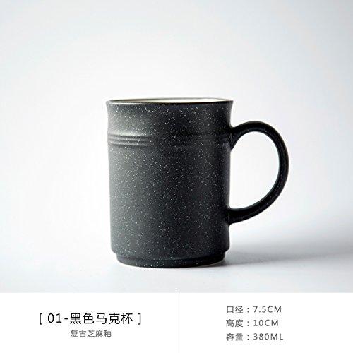 Bezigeorey Grande Tasse en Céramique Peint À La Main Le Lait Petit-Déjeuner Tasse,01