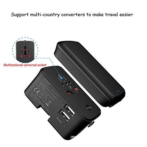 HUIGE Worldwide Travel Adapter, The Best International Plug US UK EU AU with Dual USB Charging Ports
