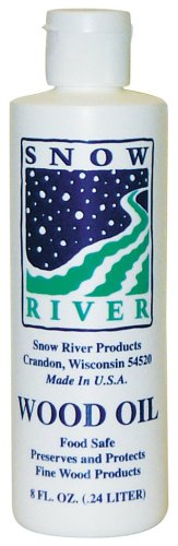 Snow River USA Wood Oil for all wood type cutting boards, 8 oz