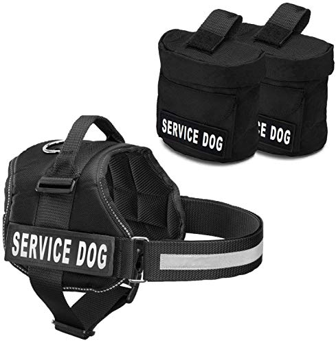 Service Dog Harness with Detachable Backpack