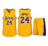 Geeignet für Kobe Bryant Nr. 24 Los Angeles Lakers Fans Jungen Mädchen Basketball Trikots Kinder...