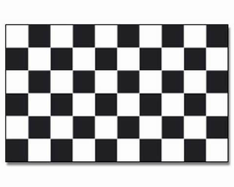 Zielflagge Fahne 90*150cm checkered black & white 85809
