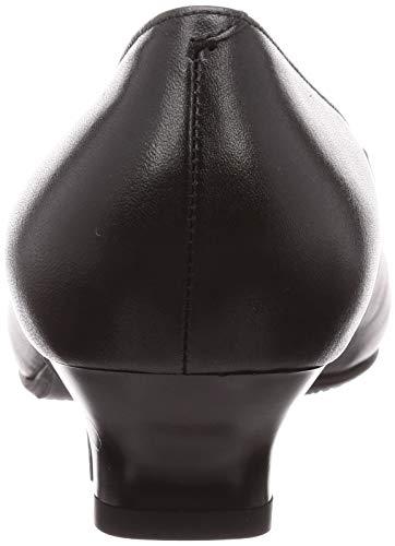 [ヒミコ]BLACKPLAINbyスクエアトゥ3.5cmヒールストラップパンプス47512レディースクロ23cmE