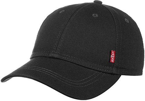 Levi's Classic Twill Red Tab Cap Baseball Casquette, Noir (Regular Black 59), One Size Homme