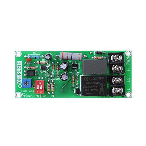 Folewr AC100V-220V Módulo de relé de control de temporizador ajustable apague la placa del interruptor de retardo para el ventilador de escape