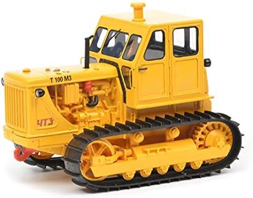 Schuco 450905700 Kettentraktor T100 M3 1 32 450905700-Kettentraktor, Modellauto, Modellfahrzeug, gelb