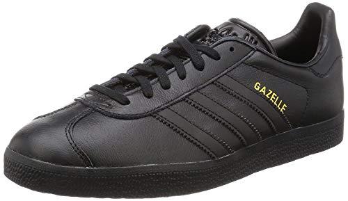 adidas Gazelle, Zapatillas de deporte Unisex Adulto, Negro (Core Black/Core Black/Gold Metallic), 36 EU