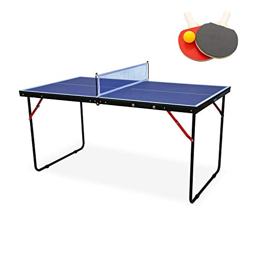 Movement God Portable Kids Table Tennis Table Great for Small Spaces and Apartments with Two Bats and Ball