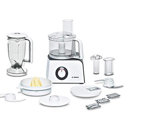 Bosch Elettrodomestici MCM4100 Robot da Cucina, 800 W, 1.21 Litri, Plastica, 2 velocità, Bianco