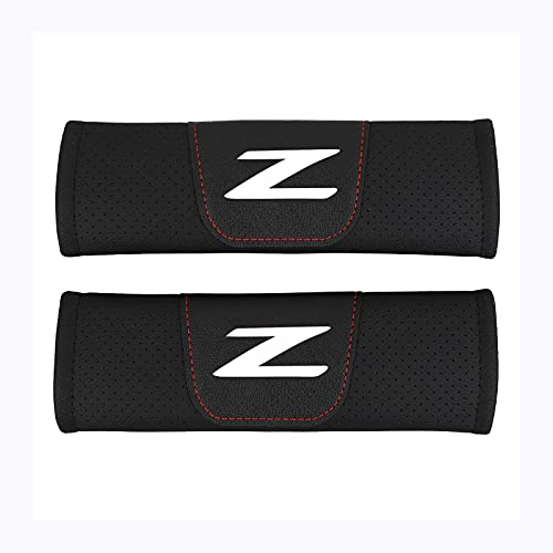 COOL KEYER 2 Pcs Car Seat Belt Covers for Adults Shoulder Pad Belt Strap Covers Compatible for Nissan 240ZX 280ZX 300ZX 350Z 370Z Z Car (White)