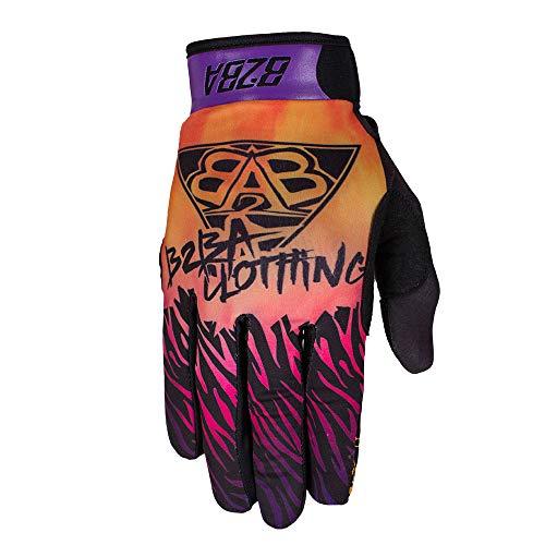 B2BA Clothing Lightweight Gloves Mountain Bike Downhill Enduro Motocross Freeride DH MX MTB BMX Quad Cross Quick Drying Non-Slip and Breathable 2020 Stars Orange Purple Sunrise - Multicolour - X-Small