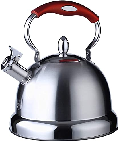WANBAO Útil Hervidor de té de silbido de Acero Inoxidable 5L 304, con Mango de Prueba de Calor Ergonomía, Adecuado para el Campamento Familiar