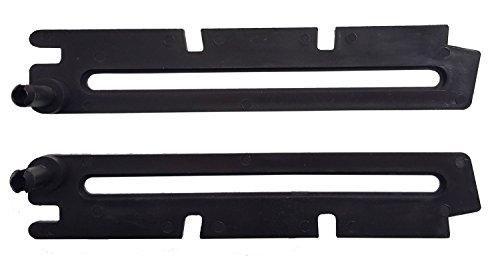 Scheren Paar lang braun für ACO Kippfenster Kippregler Fenster Feststeller Klemmträger