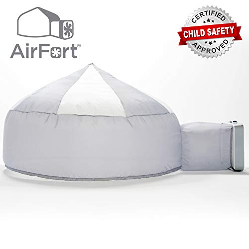 The Original AirFort Build A Fort in 30 Seconds, Inflatable Fort for Kids (Mod About Gray)