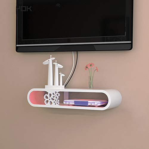 SXFYHXY TV Estantes Flotantes Pared, Montado En Pared Estante Consola Media Entretenimiento Estante Soporte De Pie De Receptor Decodificador Decoración de Sala