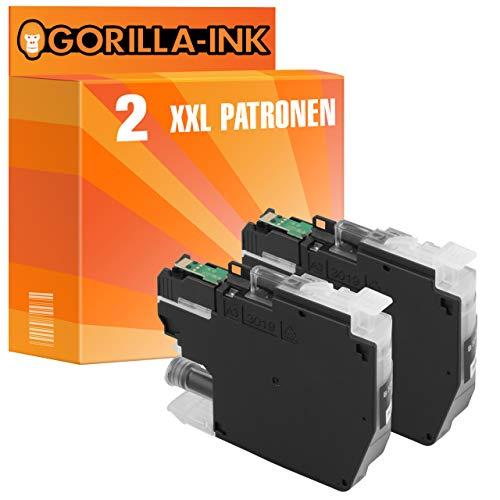 Gorilla-Ink 2X Tinten-Patrone XXL als Ersatz für Brother LC-3211BK DCP-J572DW J772DNW J772DW J774DW MFC-J491DW J497DW J890DW J895DW | Black