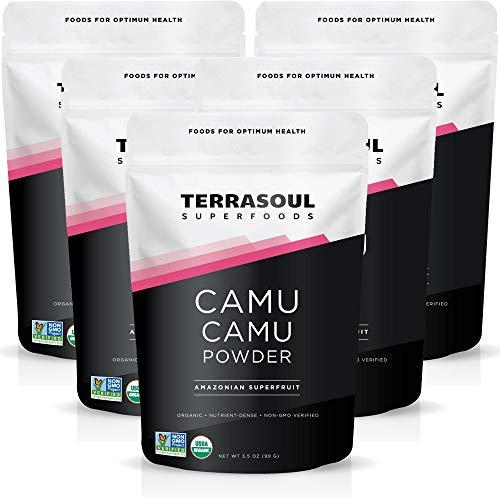 Terrasoul Superfoods Organic Camu Camu Powder, 17.5 Oz (5 Pack) - Raw | Natural Vitamin C | Immune Support