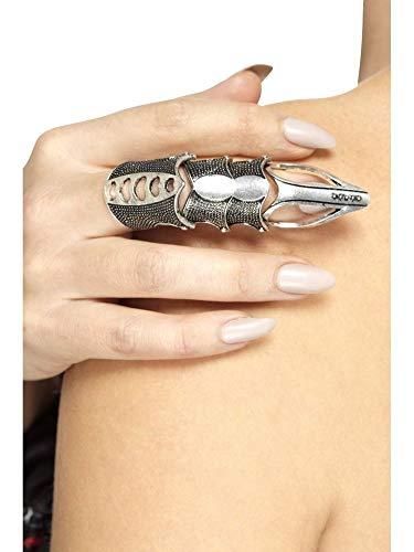 shoperama Gothic Armour Finger Ring Rüstungsring Gelenkring Fingerrüstung Punk Klaue Schmuck Hand Halloween Horror