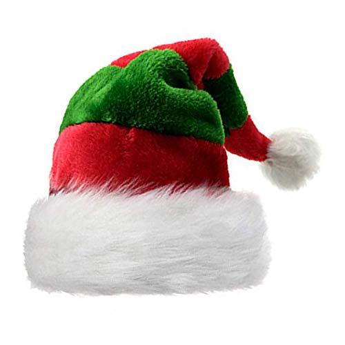 Kerstmuts, FunPa Kerstman Hoed Stof Mode Feest Festival Kostuum Kerstman Hoed Kerstmis Accessoires Rood & groen