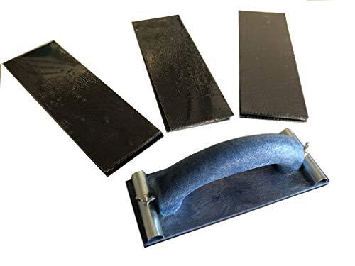 Handschleifer-Set 240x80mm + 30x Schleifgitter (80/100/120) Gipskarton schleifen