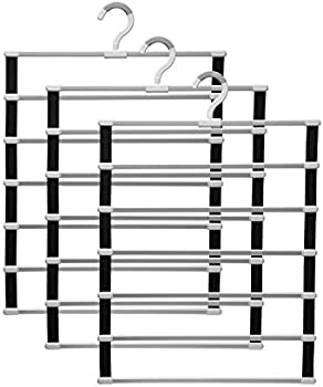 3-Pack IMHO 6-Tier Space Saving Pants Hanger