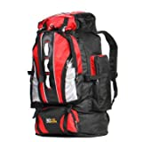 C-FUNN Zaino da Viaggio per Bagagli da Campeggio con Zaino da Campeggio Impermeabile da 90 Litri - Rosso