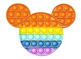 Push Pop Juguete Antiestres - Pop It Sensorial Mickey Mouse para Niños y Adultos Bubble Fidget Toy - Juguetes Antiestrés de Explotar Burbujas para Aliviar estrés y Ansiedad .