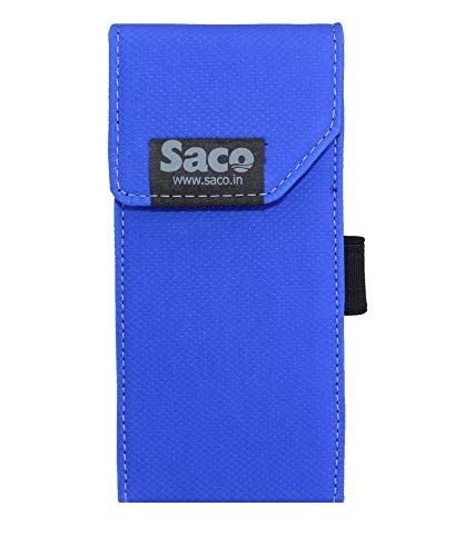 Saco Shock Proof Pouch Case Wallet Cover Protector for Mi 20000mAH Li-Polymer Power Bank 2i Model PB20IZM - Blue