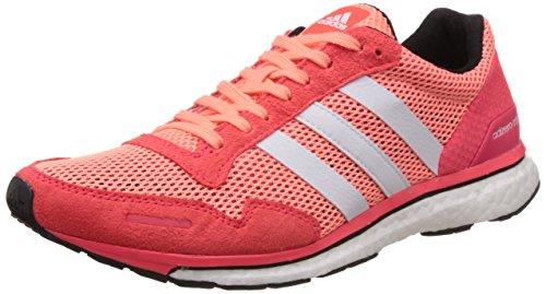 adidas Adizero Adios 3W, Zapatillas de Running Mujer, Rojo/Blanco (Brisol/Ftwbla/Rojimp), 36 2/3 EU