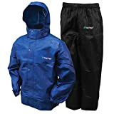 Frogg Toggs Men's All Sports Rain and Wind Suit, Royal Blue/Black Pants, X-Large