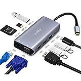 Enisina USB C Adapter, 10 Port Aluminium USB C Hub...