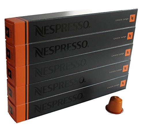 Nespresso Kapseln orange – 50 x Linizio Lungo – Original Nestlé – lange Kaffee – Sortiment