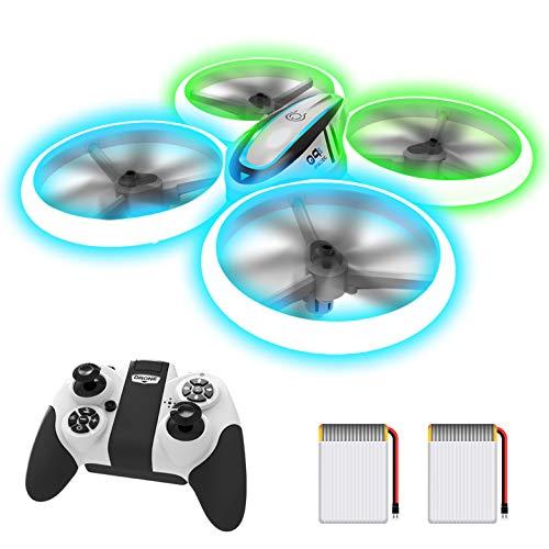 AVIALOGIC Q9s Drone per Bambini,Elicottero Telecomandato con Luci Blu & Verdi e Rotazione a 360°,RC Droni Con Mantenimento Dell'altitudine e Modalità Senza Testa,Regalo Per Ragazzi e Ragazze
