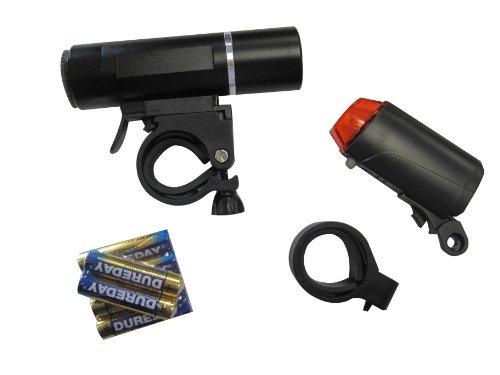 FISCHER  Beleuchtungsset LED Batterieleuchtenset Maverick, schwarz