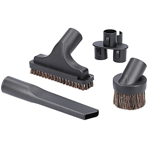 McFilter universal Bürsten-Set 4 tlg. für Staubsauger mit 32mm Anschluss - mit Möbelpinsel, Polsterbürste, Fugendüse und Zubehörhalter, u.a geeignet für AEG, Philips, Thomas