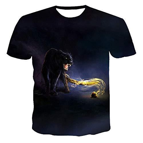 ZQZL Panther 3D T Shirt Camisa de compresión de Manga Corta Hombres Tops de Verano Tops Anime T Shirt 2020 Nuevo