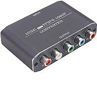 HDMI to コンポーネント1080p 5RCA RGB YPbPr 変換アダプター R/L オーディオ + 同軸出力 SWITCH/PS4/Apple TV/Roku/Fire TV/STB/Blu-ray Players/ゲーム機 アルミニウム製ハウジング