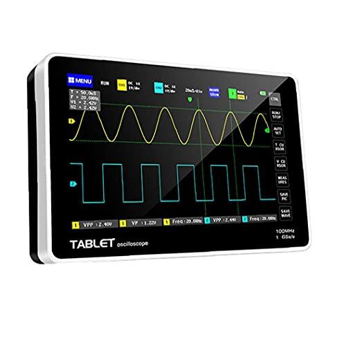 Osciloscopio de mano osciloscopio Osciloscopio digital 1013D con 2 canales LCD Pantalla táctil LCD Reemplazo de tasa de muestreo de host para FNIRSI