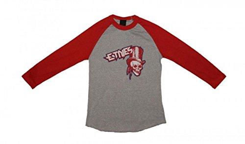 Etnies Skateboard Damen T-Shirt Journey Raglan Grey/Red, Grösse:S