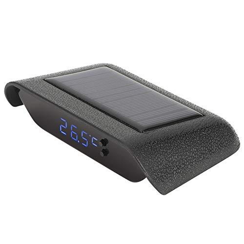 Qioni Datum und Woche Tragbare Digitaluhr, elektronische Uhr, Mini für Auto Car Vehicle Truck(Blue)
