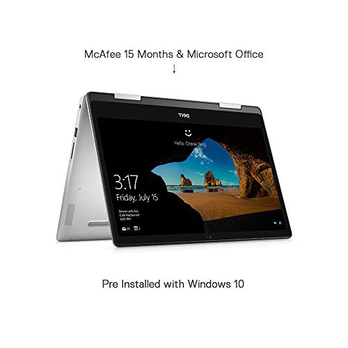 DELL Inspiron 5491 2in1 Touchscreen 14-inch Laptop (10th Gen i3-10110U/4GB/256GB SSD/Windows 10 + MS Office/Integrated Graphics), Platinum Silver
