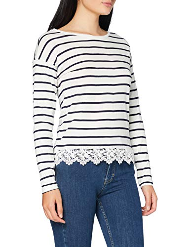Springfield Bajo Crochet-c/97 Camiseta, Blanco (White_Print 97), XS (Tamaño del Fabricante: XS) para Mujer