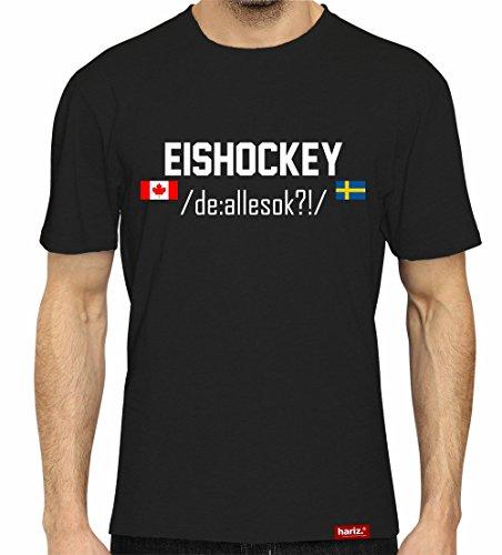HARIZ Eishockey DE: /allesokay/ // Original T-Shirt - Schwarz, XS-4XXL // Germany   Pyeongchang   Trikot   Medaille   Icehockey #Eishockey Deutschland Collection Black M