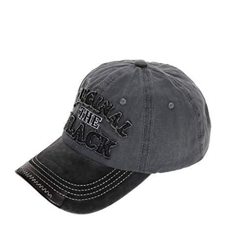 LEEDY Gorra de béisbol para mujer, vintage, con aspecto desgastado, bordado, gorra de béisbol, con protección UV, ajustable, para exteriores, de algodón Uinsex 2019