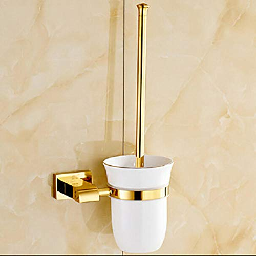 Creative Toilet Scrubber Wall Mounted Toilet Brush - All Copper / Gold / Ceramic / Black Brush Head / Toilet Cleaning Brush