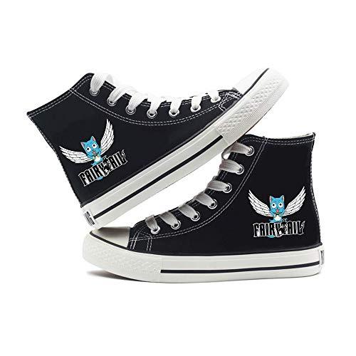 Fairy Tail Zapatos Zapatos Otoño e Invierno cómoda Ocasional Lona de la Manera Deportes de Alto-Top Tendencia de los Hombres de Zapatos de Las Mujeres de Nueva diarias Zapatillas