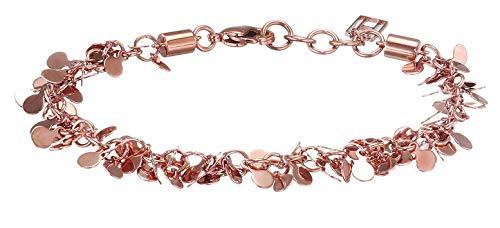 Tommy Hilfiger Fine Core damska bransoletka ze stali nierdzewnej pozłacana różowym złotem, 17,5 – 19,5 cm