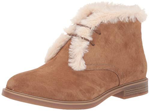 Hush Puppies Women's Sabine Faux Fur Hiker Ankle Boot, Leopard Calf Hair, 11 W US