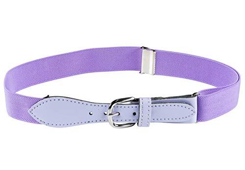 HOLD'EM Kids Toddler Belt Leather Closure Elastic - Lavender