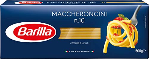 Barilla Pasta Maccheroncini n. 10, 500g